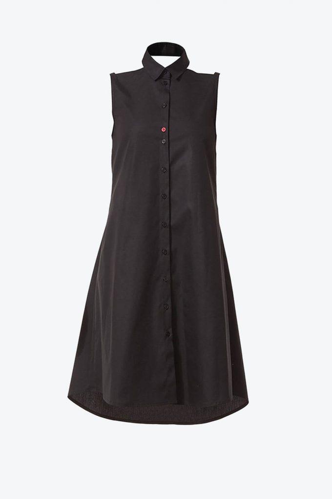 Ol10000218 Bare Shoulders Lose Fit Dress With Side Pockets1B