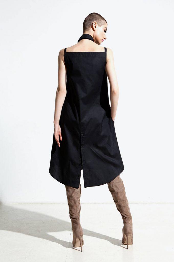 Ol10000218 Bare Shoulders Lose Fit Dress With Side Pockets3