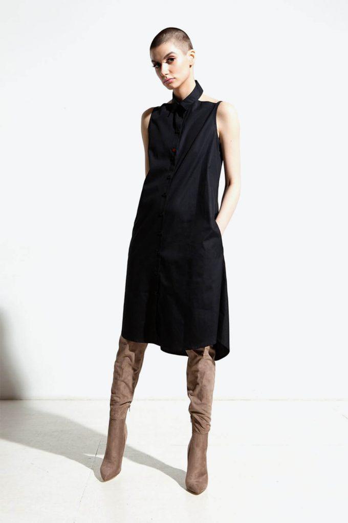 Ol10000218 Bare Shoulders Lose Fit Dress With Side Pockets4