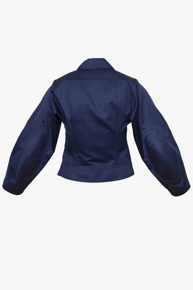 OL10000220 Wide sleeve jacket navy blue2