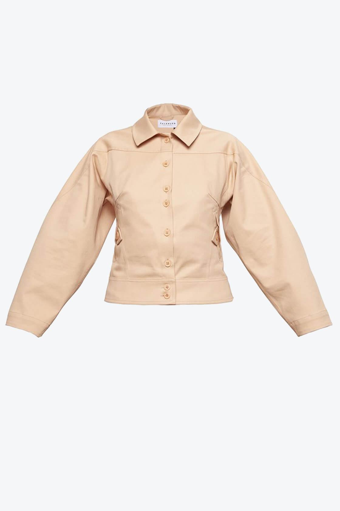 OL10000222 Wide sleeve jacket nude1