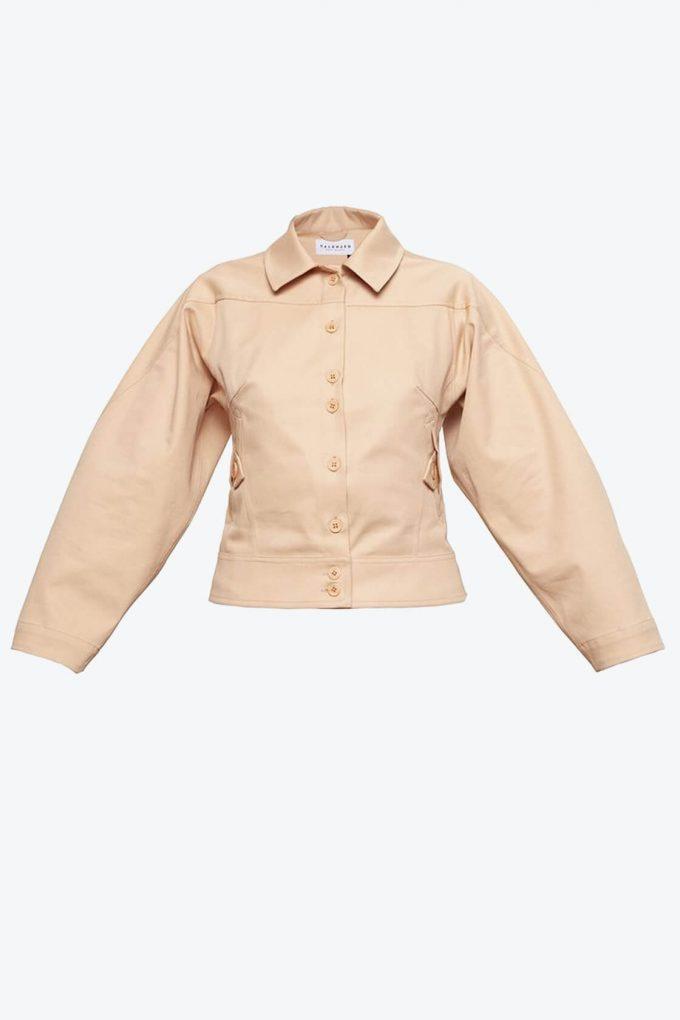 OL10000222 Wide sleeve jacket nude1B