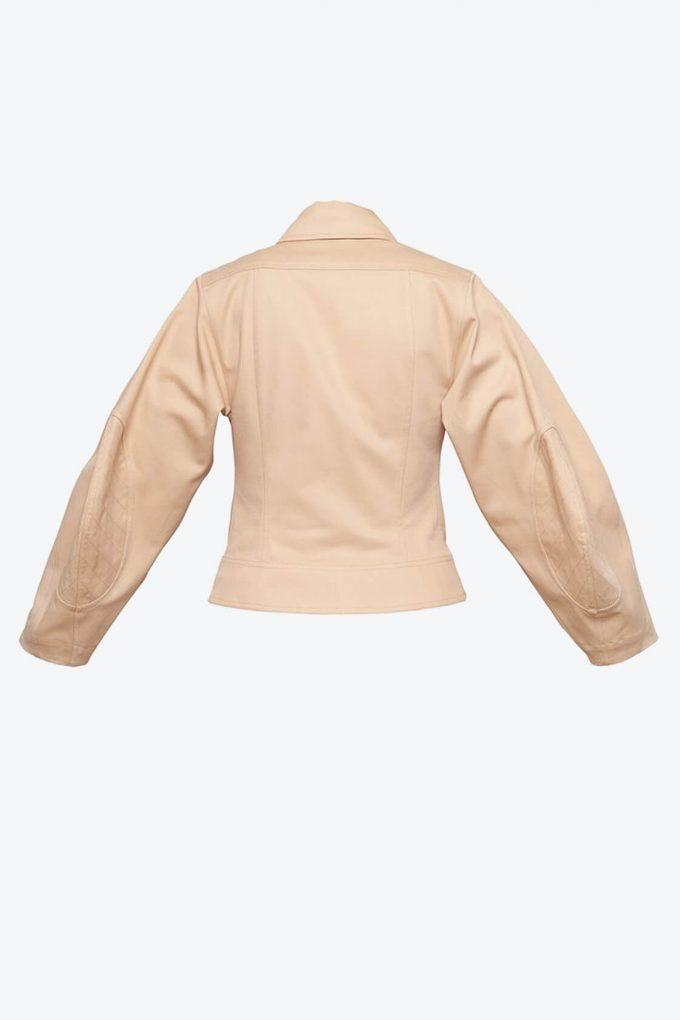 OL10000222 Wide sleeve jacket nude2