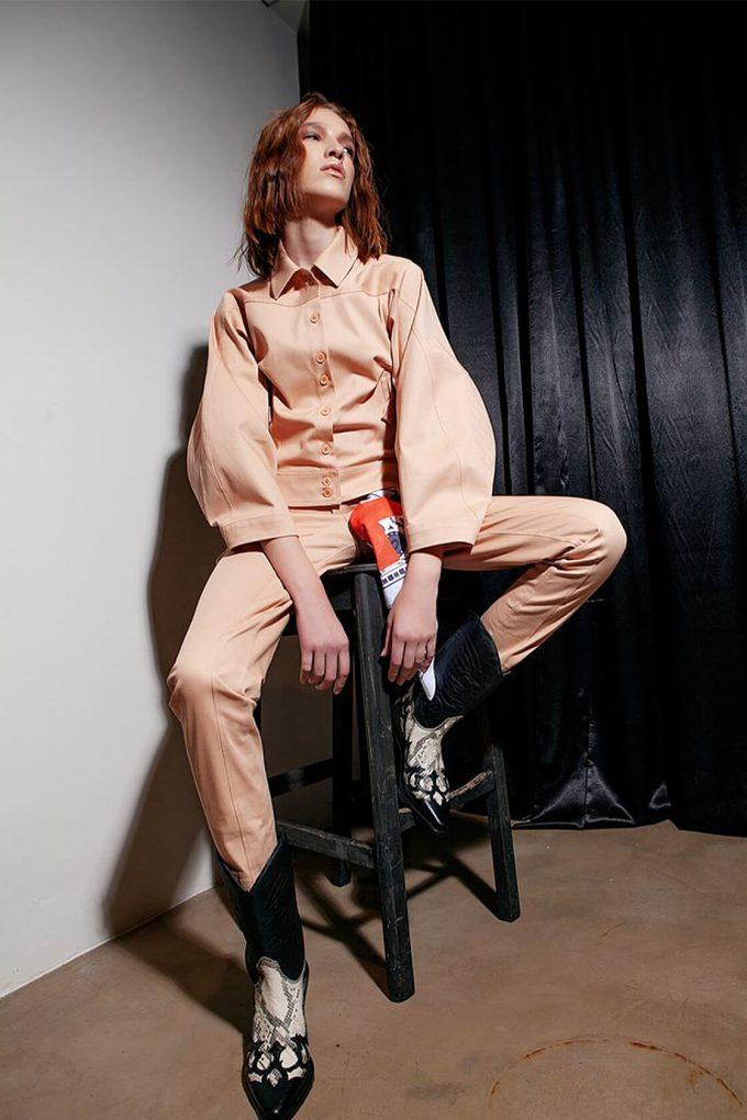 OL10000222 Wide sleeve jacket nude3