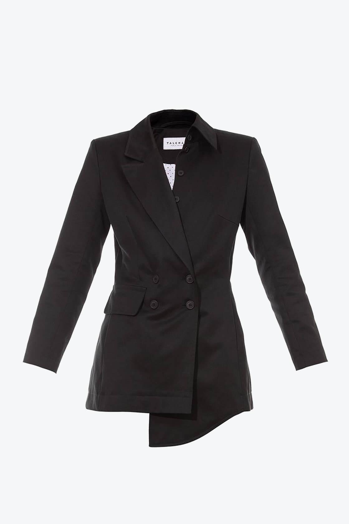 OL10000225 Asymetric blazer black1