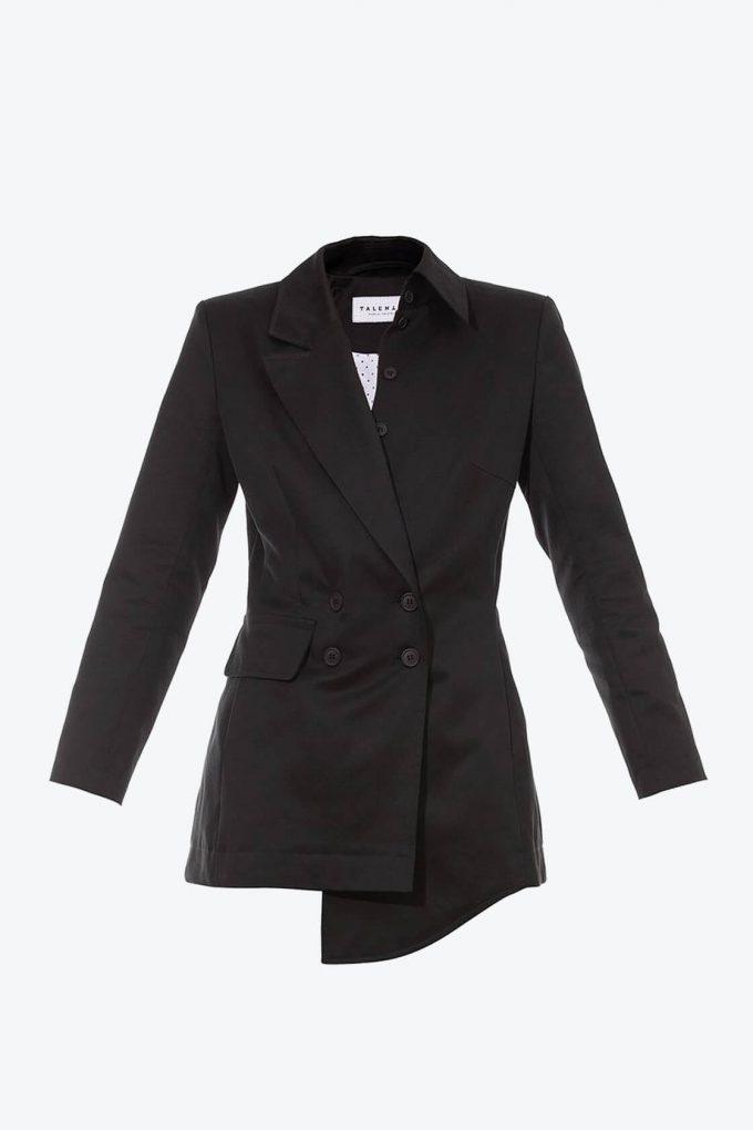 OL10000225 Asymetric blazer black1B
