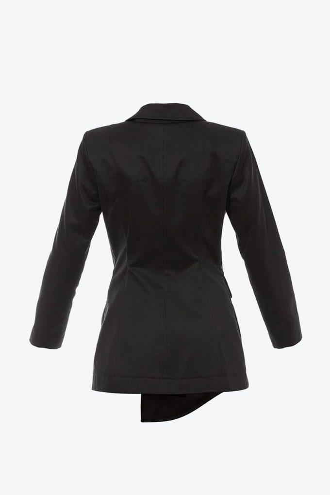 OL10000225 Asymetric blazer black2
