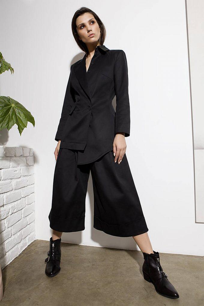 OL10000225 Asymetric blazer black3