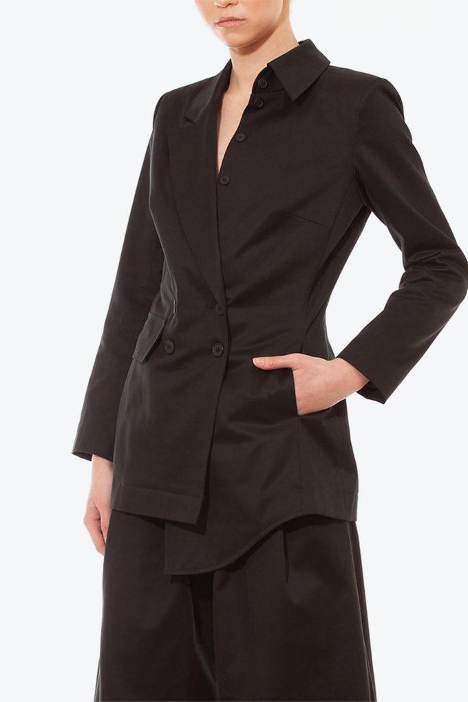 OL10000225 Asymetric blazer black4