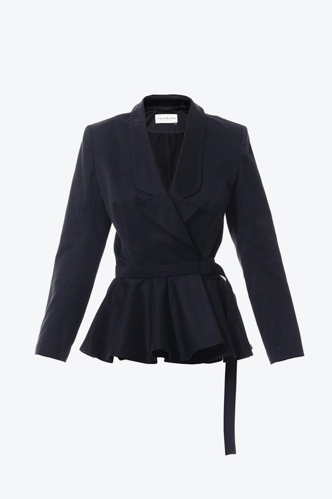 OL10000226 Belted wrap blazer1