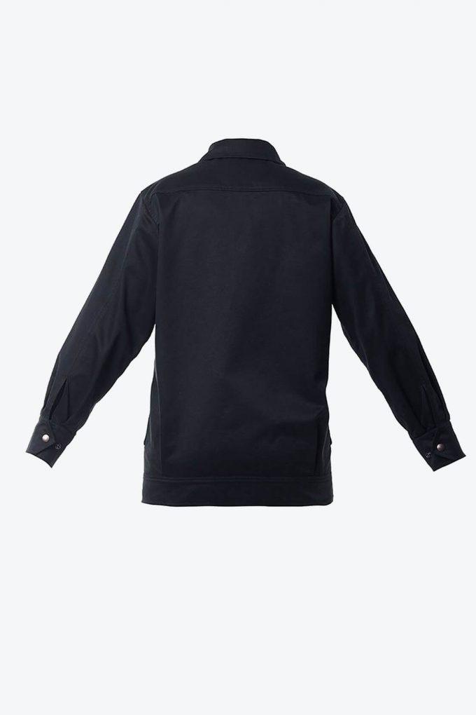OL10000228 Black denim jacket2