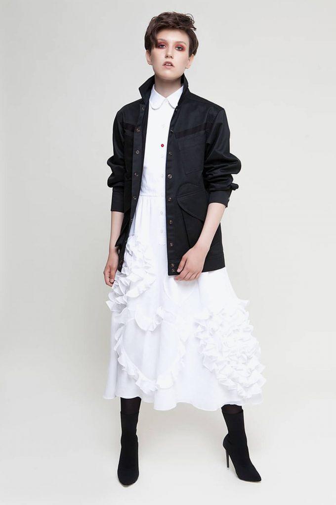 OL10000228 Black denim jacket3