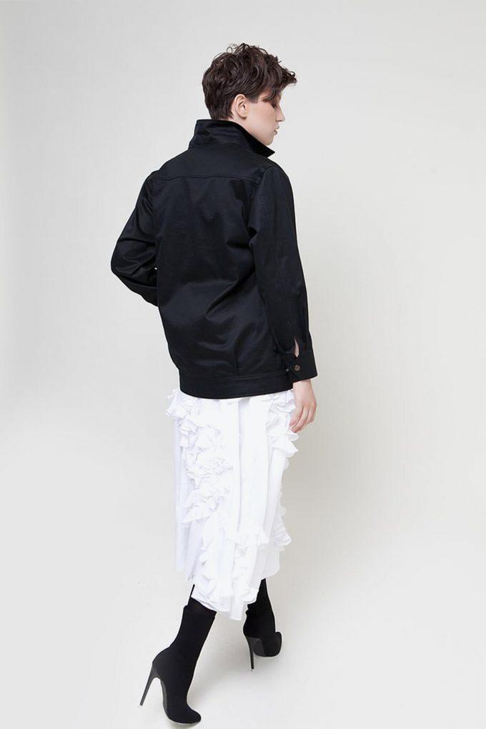 OL10000228 Black denim jacket4