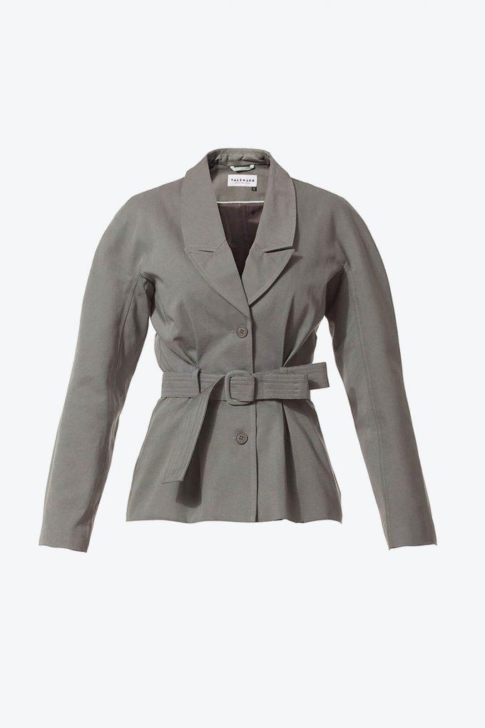 Ol10000229 Blazer With Belt And Side Pockets1B