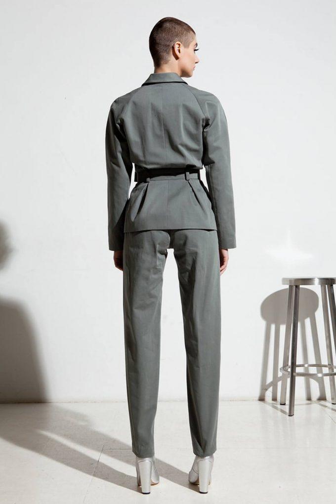 Ol10000229 Blazer With Belt And Side Pockets4
