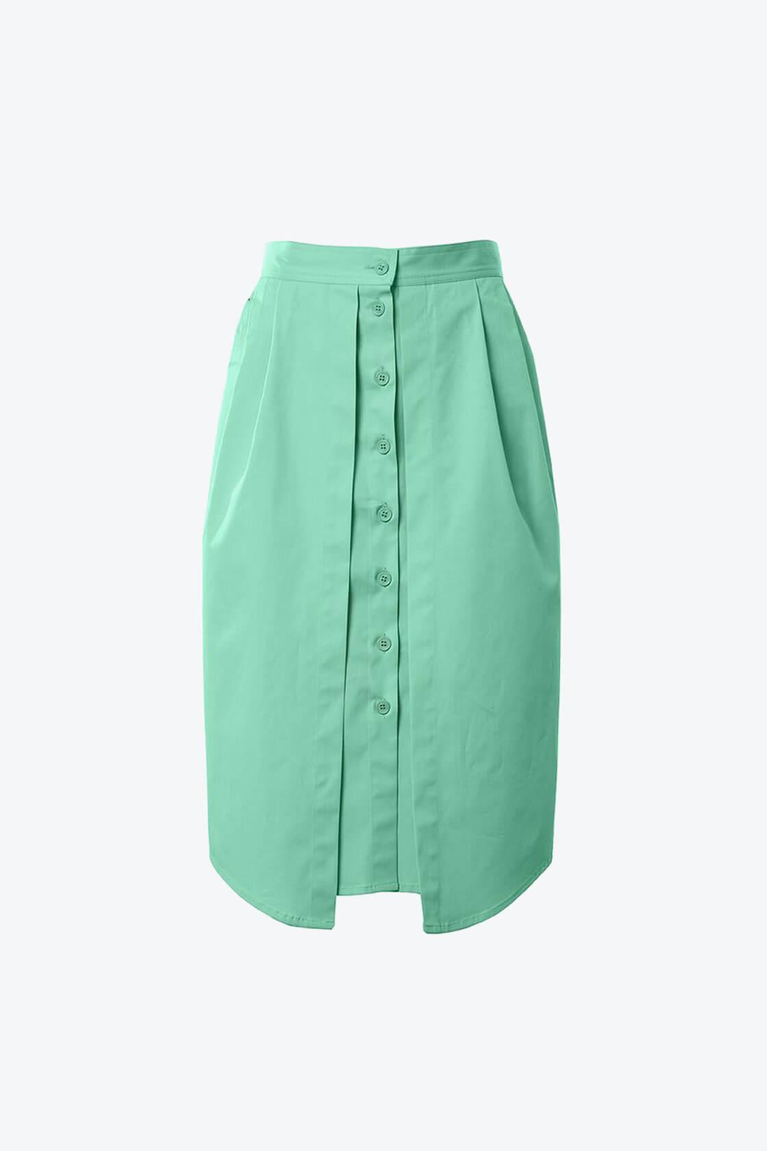 OL10000232 Double skirt green1
