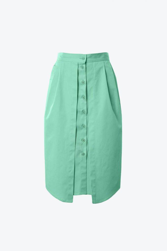 OL10000232 Double skirt green1B