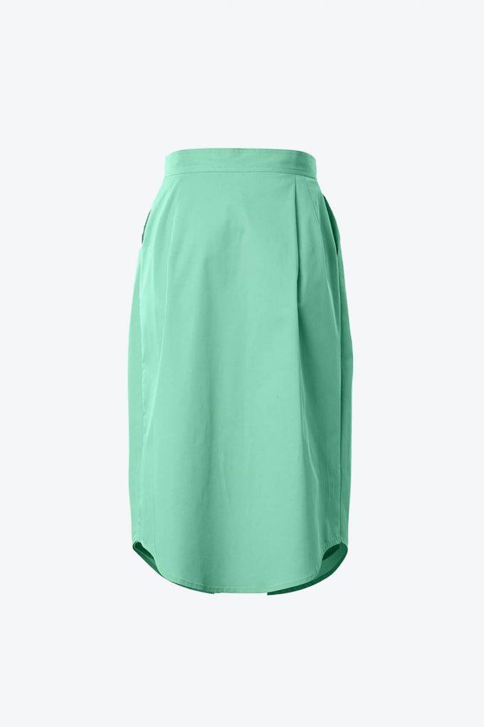 OL10000232 Double skirt green2