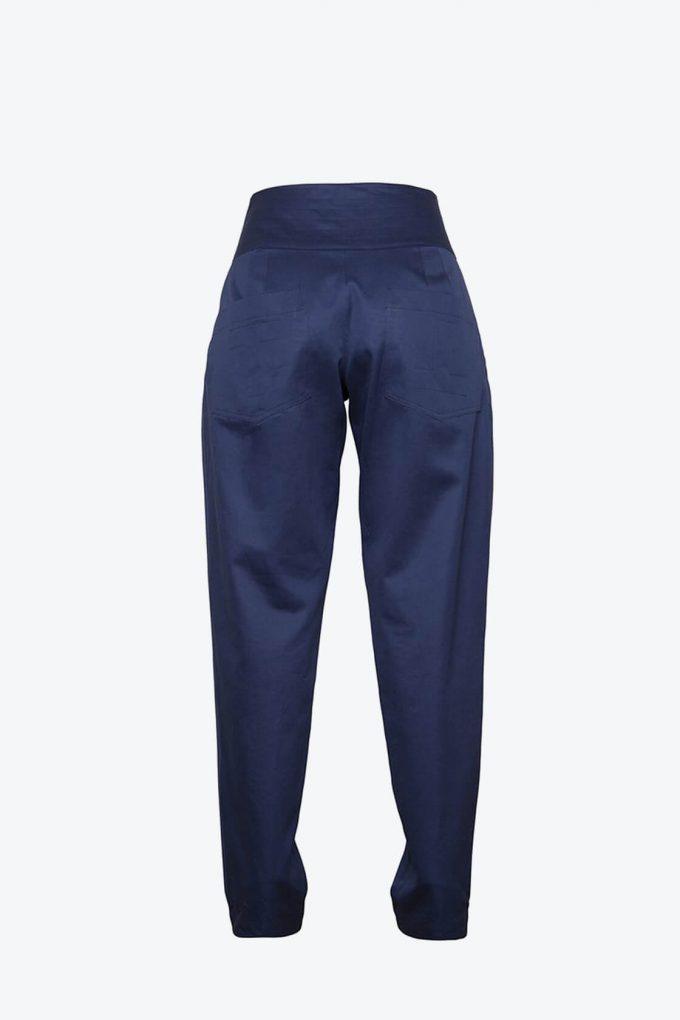 OL10000234 High waist trousers navy blue2