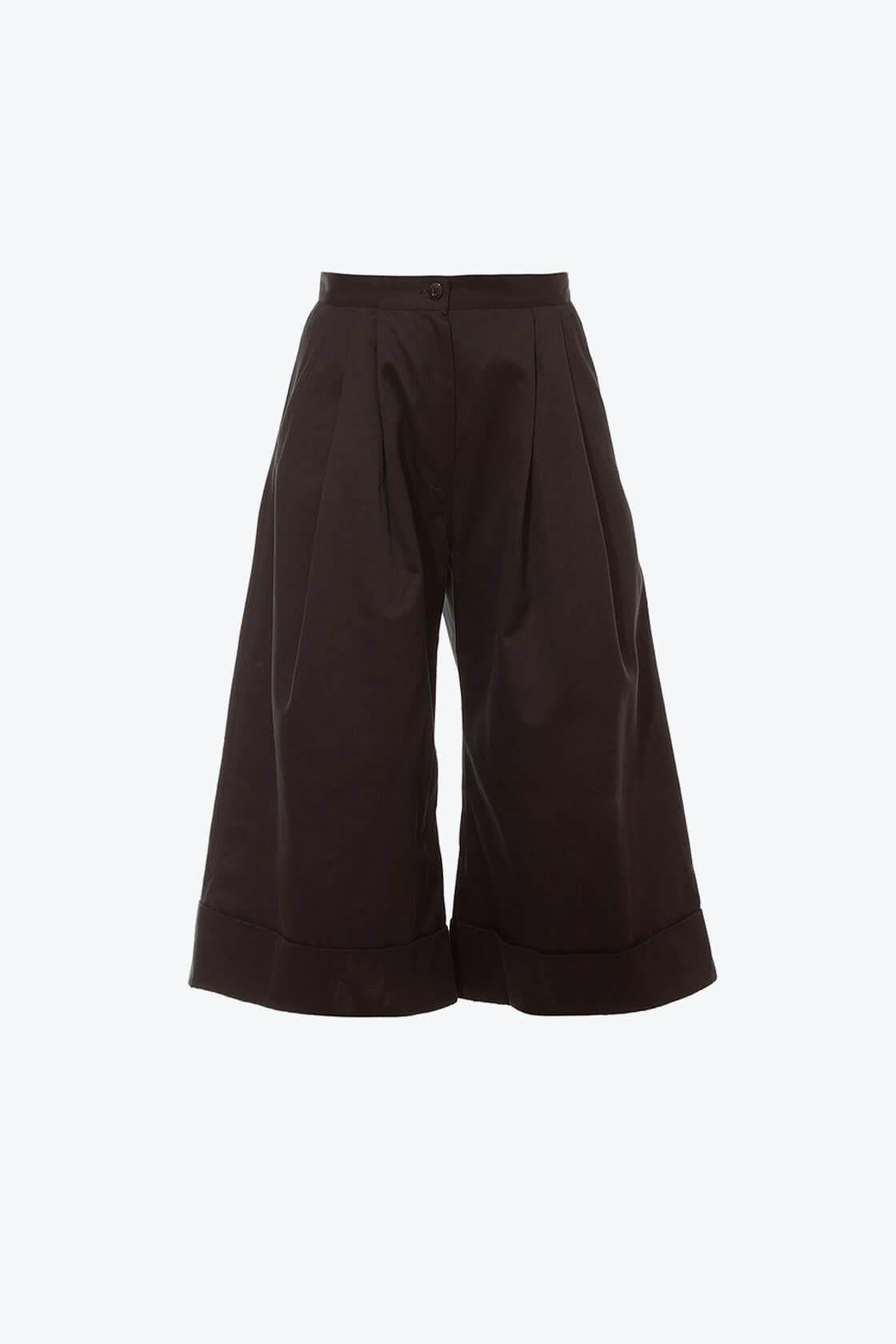 OL10000238 Wide leg 3 4 pants black1