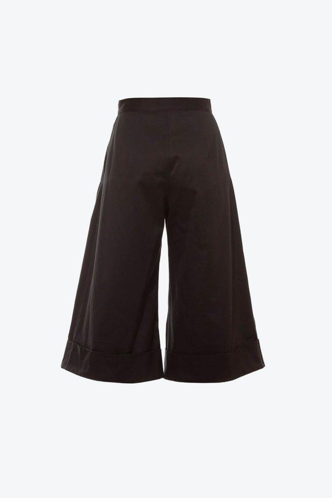 OL10000238 Wide leg 3 4 pants black2