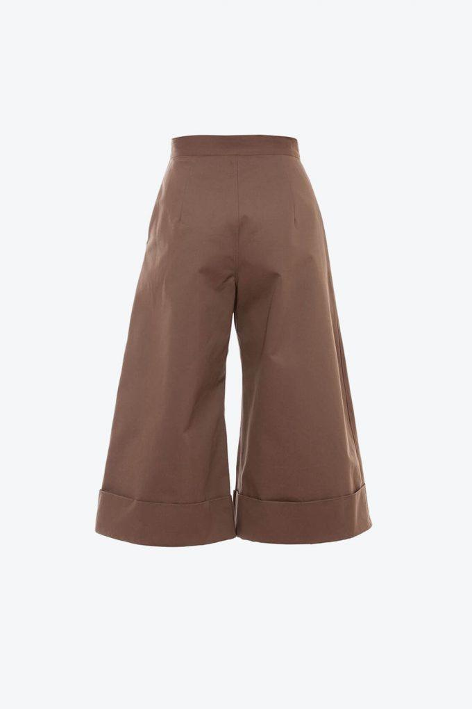 OL10000240 Wide leg 3 4 pants khaki2