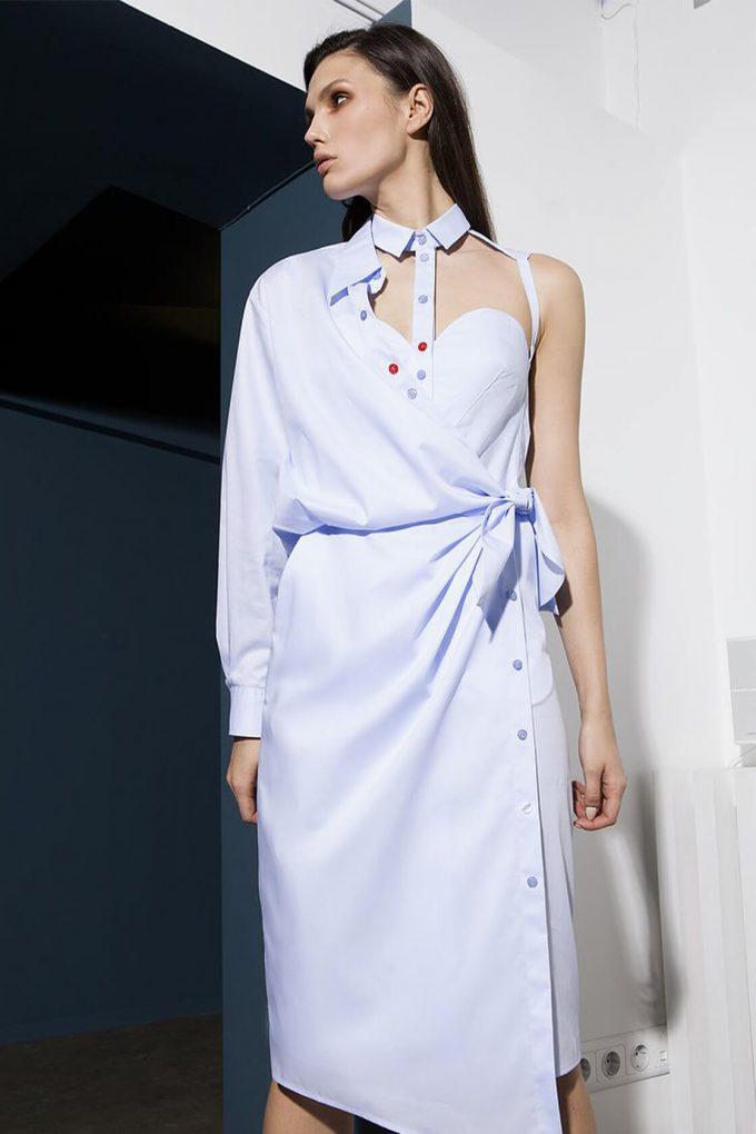 OL10000250 Asymmetric shirt dress4