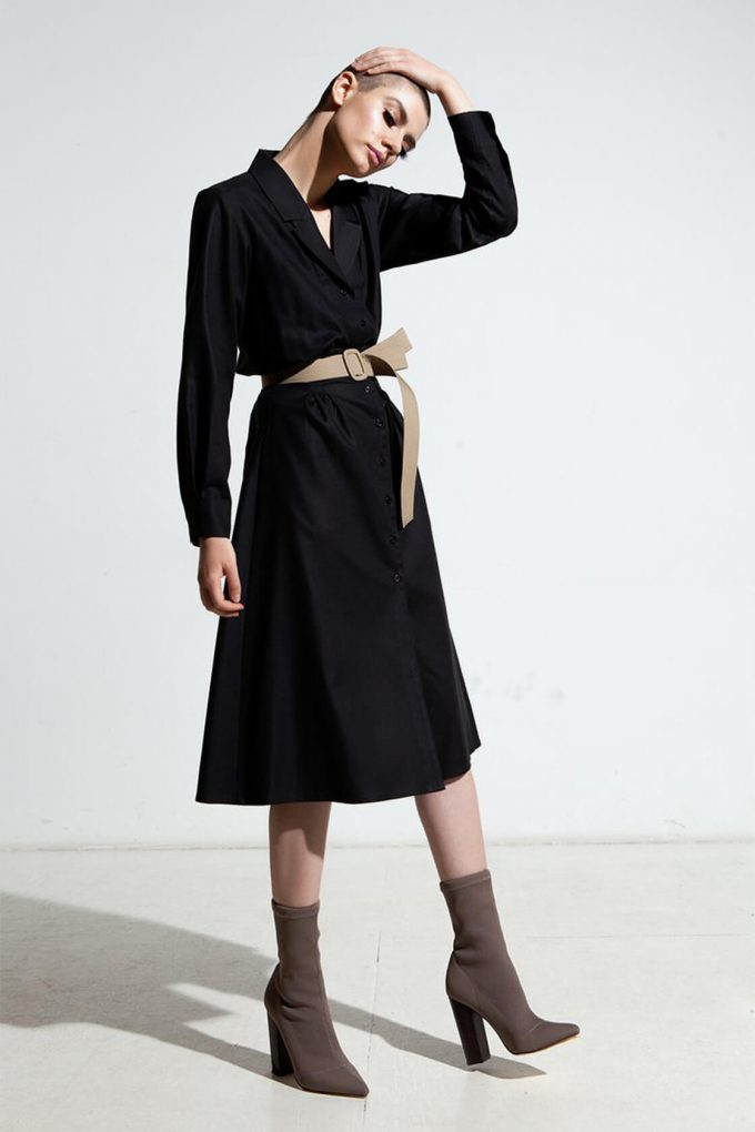 Ol10000252 Relaxed Lapel Dress With Side Pockets3
