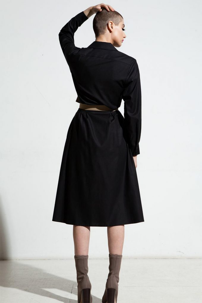Ol10000252 Relaxed Lapel Dress With Side Pockets4