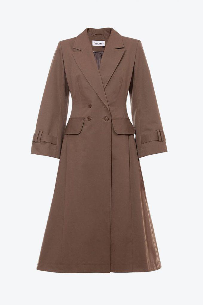 OL10000254 A line coat khaki1B