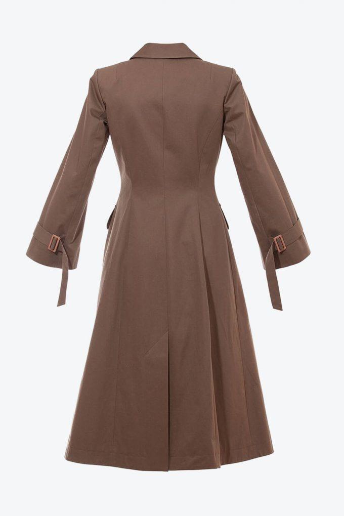 OL10000254 A line coat khaki2