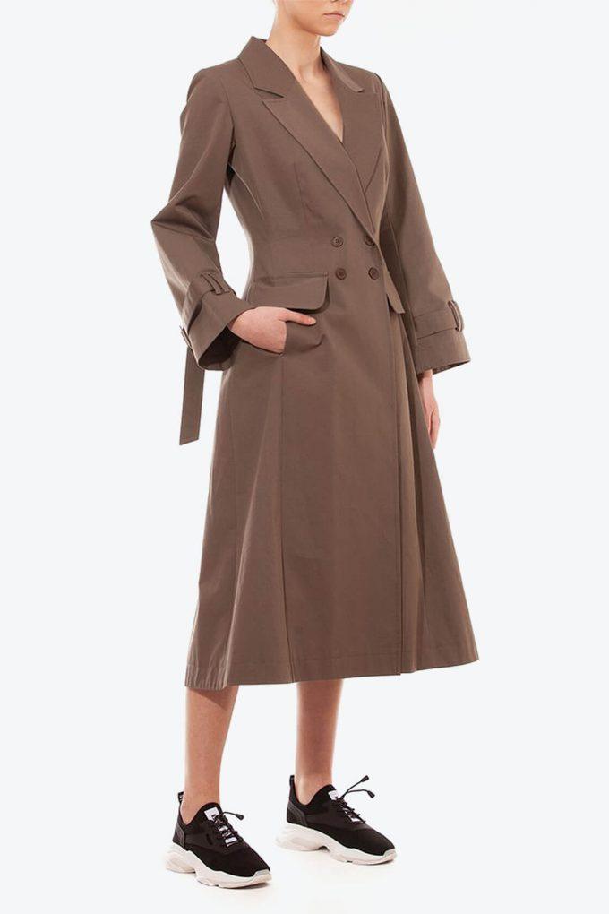 OL10000254 A line coat khaki3