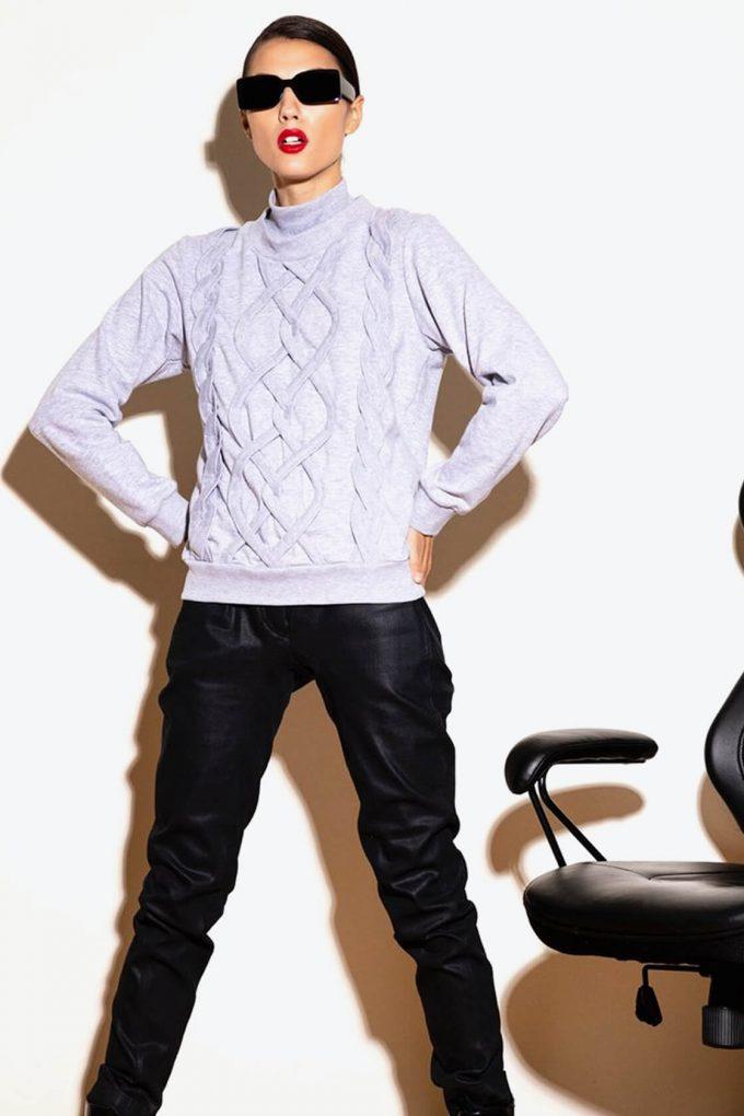 OL10000255 Fake knitwear sweatshirt3