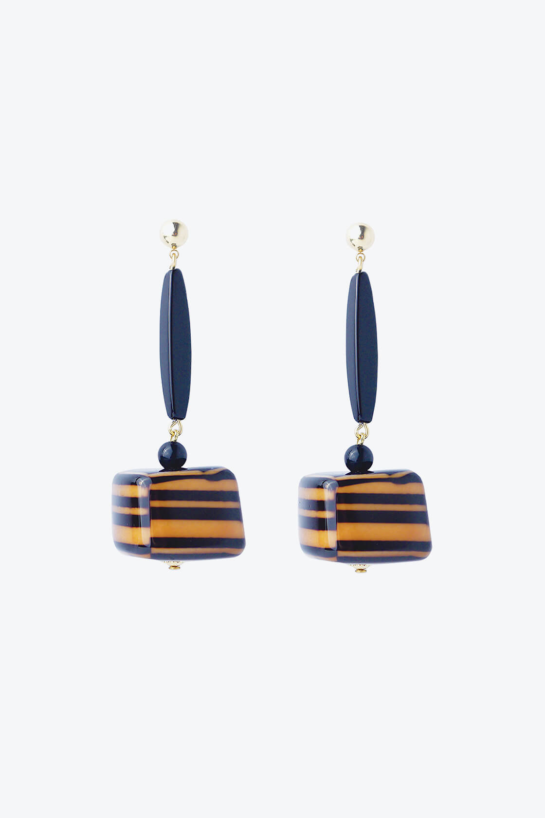 OL50000100 Hand Painted Black Statement Earrings1