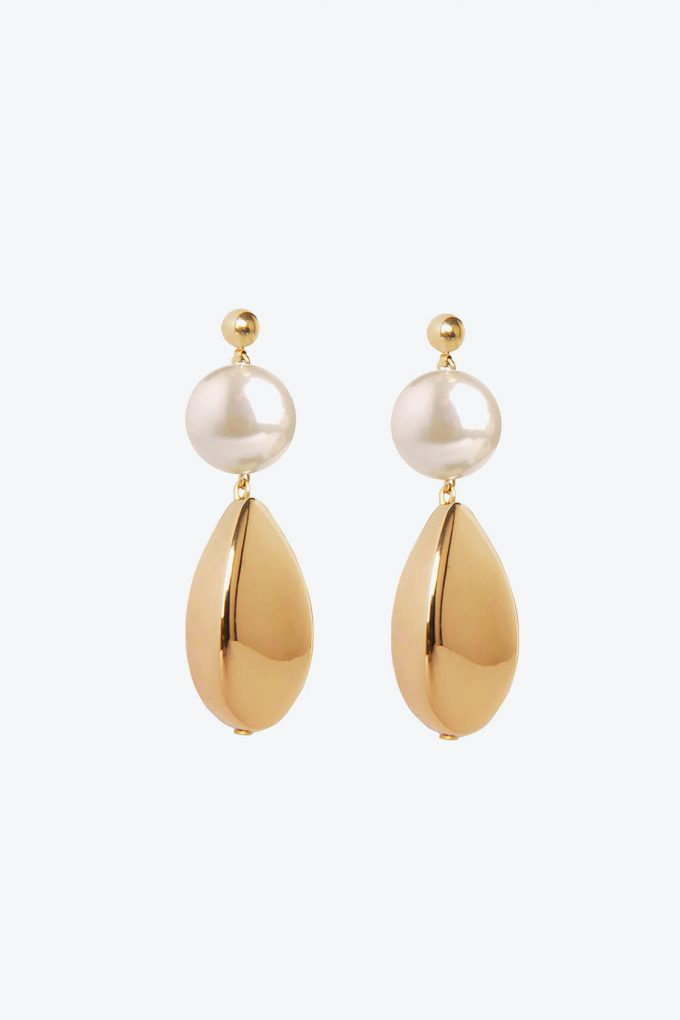 OL50000108 Pearl Gold Artemisia Earrings1B