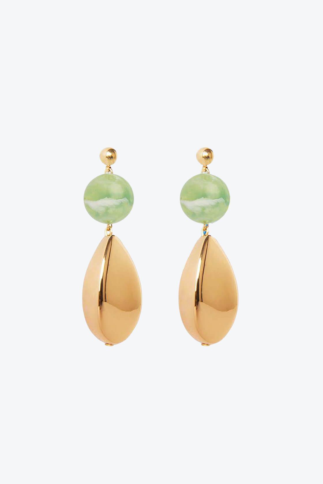 OL50000110 Green Gold Statement Earrings1