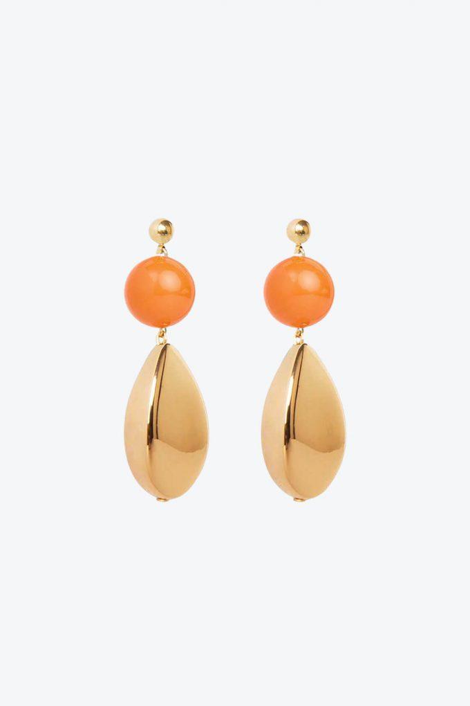 OL50000111 Orange Gold Statement Earrings1B