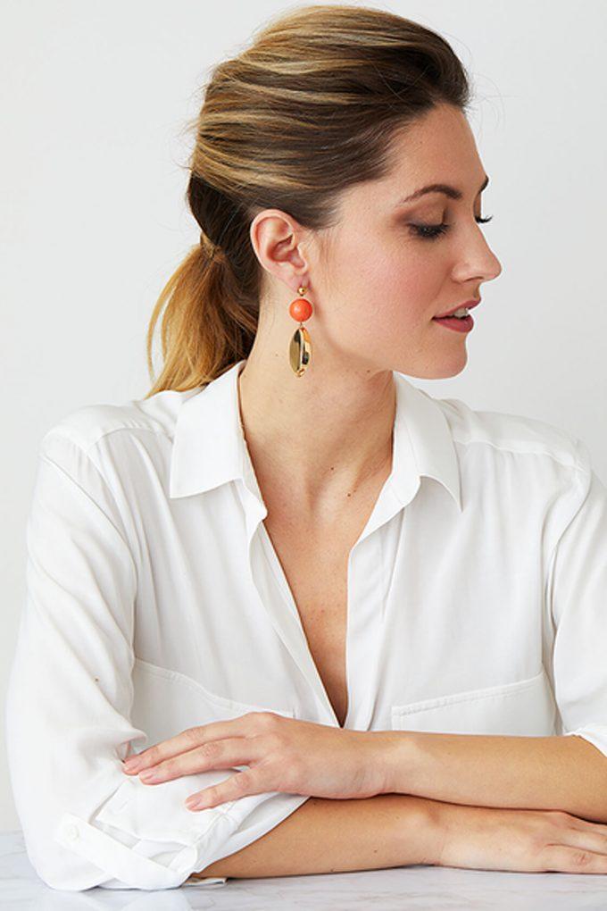 OL50000111 Orange Gold Statement Earrings2