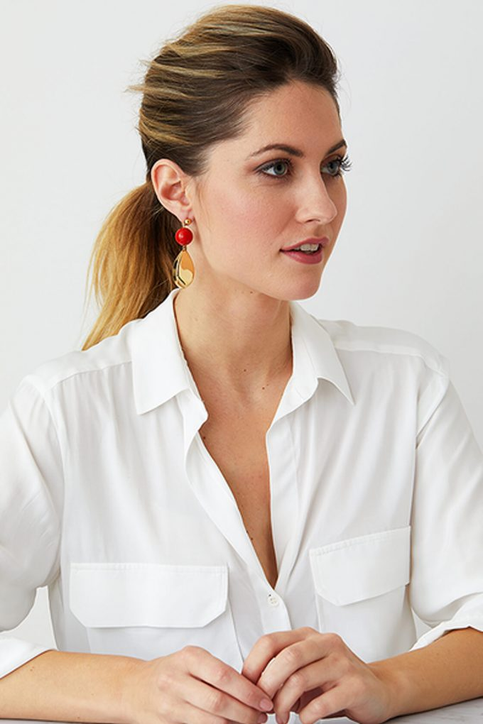 OL50000113 Red Gold Statement Earrings2
