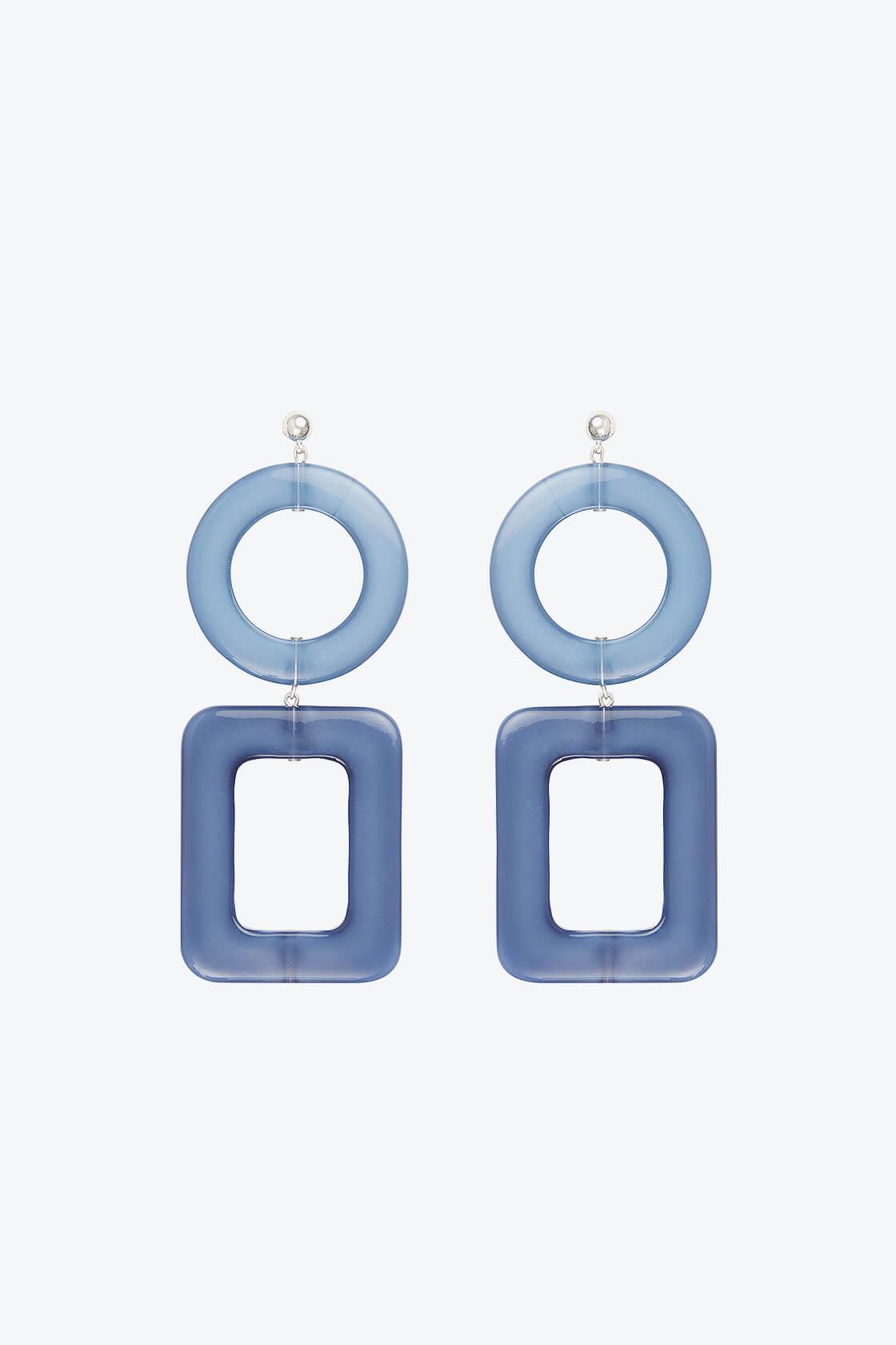 OL50000114 Blue Geometric Statement Earrings1
