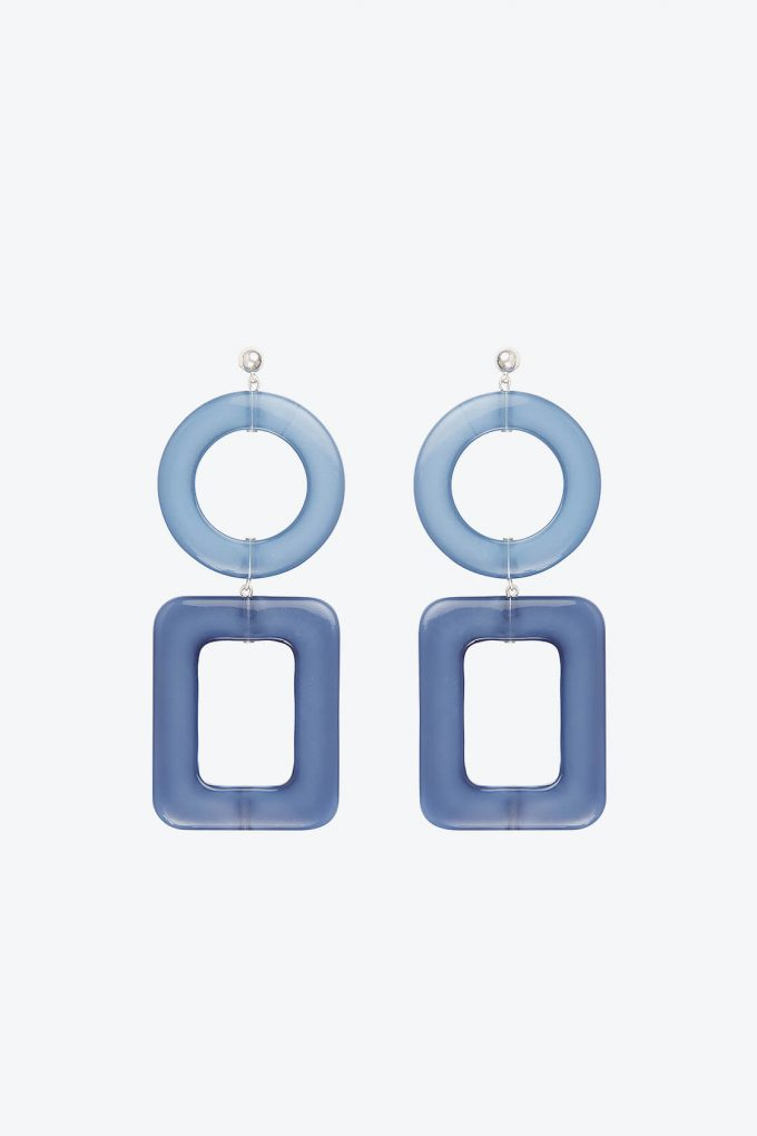 OL50000114 Blue Geometric Statement Earrings1B