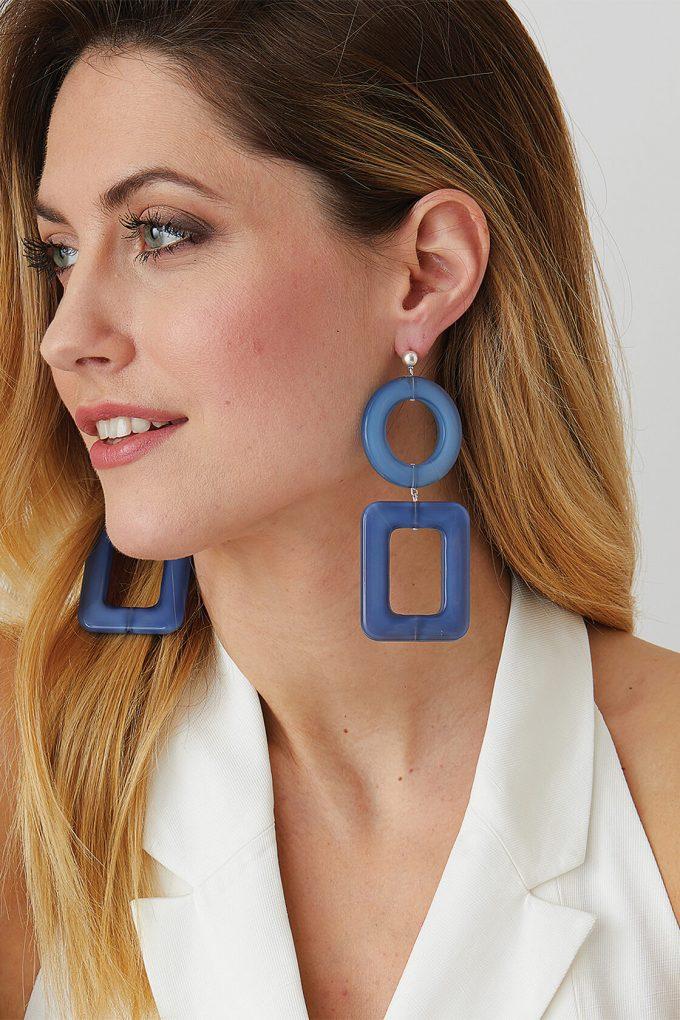 OL50000114 Blue Geometric Statement Earrings3
