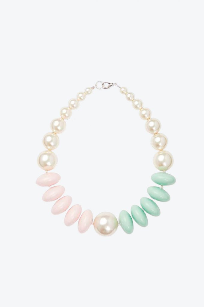 OL50000124 Pearl Pastel Statement Necklace1B