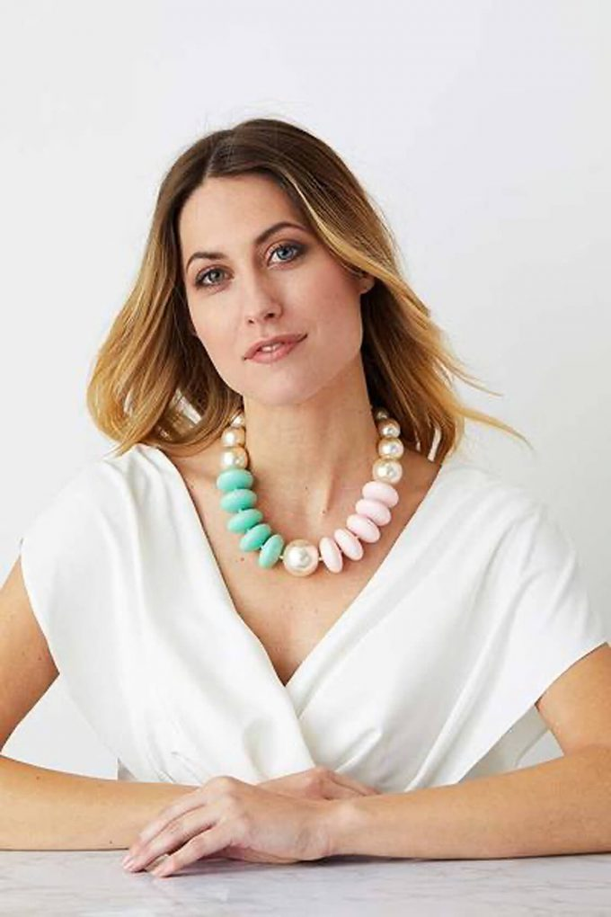 OL50000124 Pearl Pastel Statement Necklace3