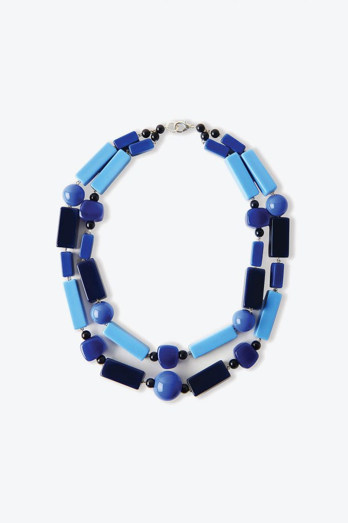 OL50000133 Blue Necklace Classic Italian Statement Jewellery1B