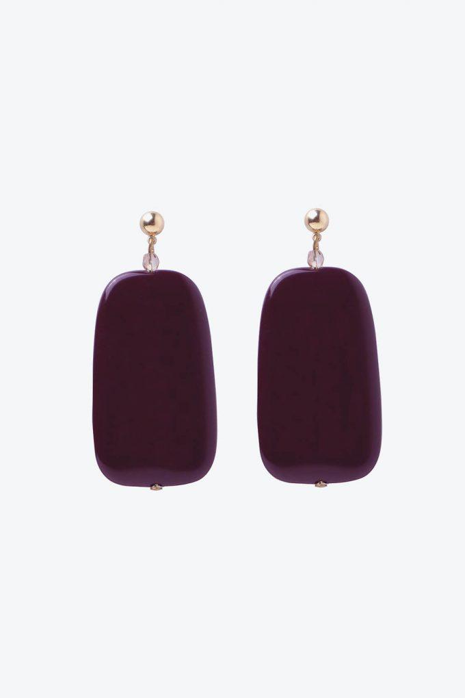 OL50000137 Sleek Maroon Earrings1B