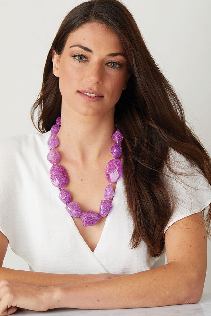 OL50000140 Electric Purple Statement Necklace2