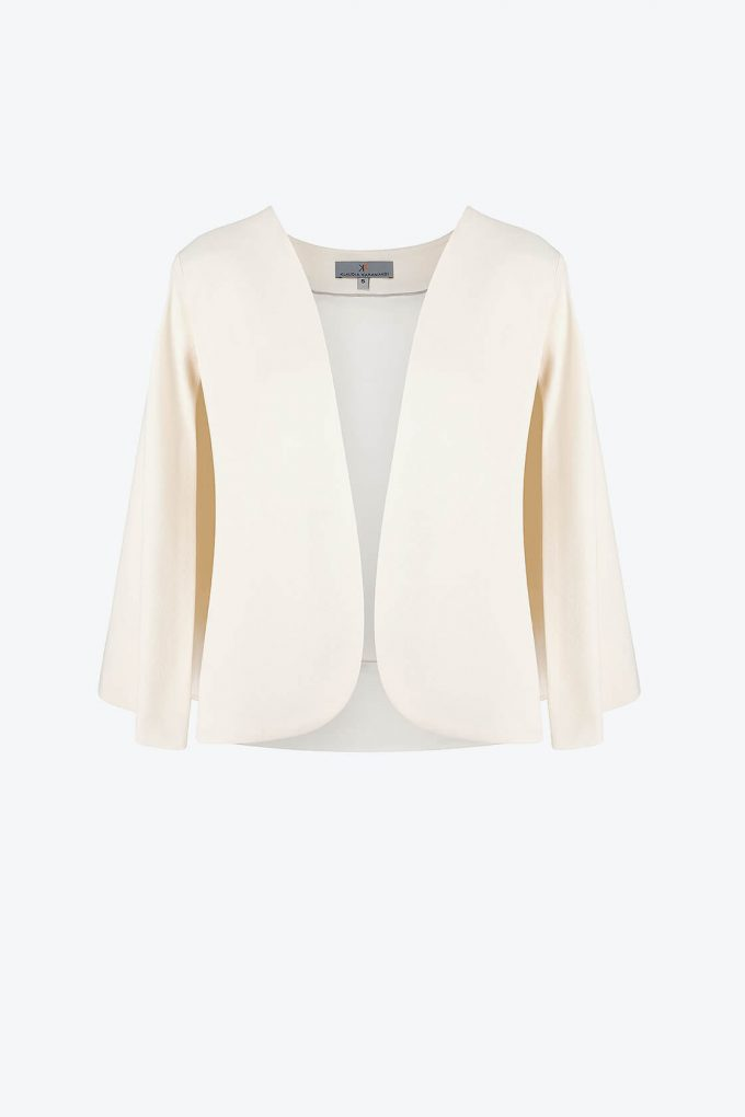 OL100002639 Angela Cape Jacket White1B