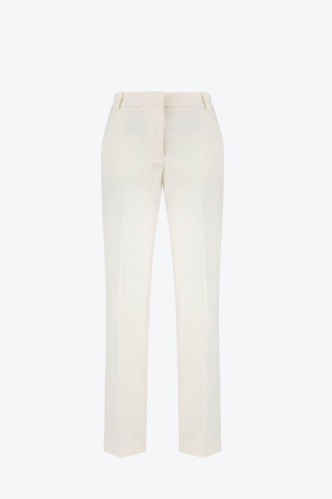 OL100002640 Dana Slim Fit Pleated Pants White1B