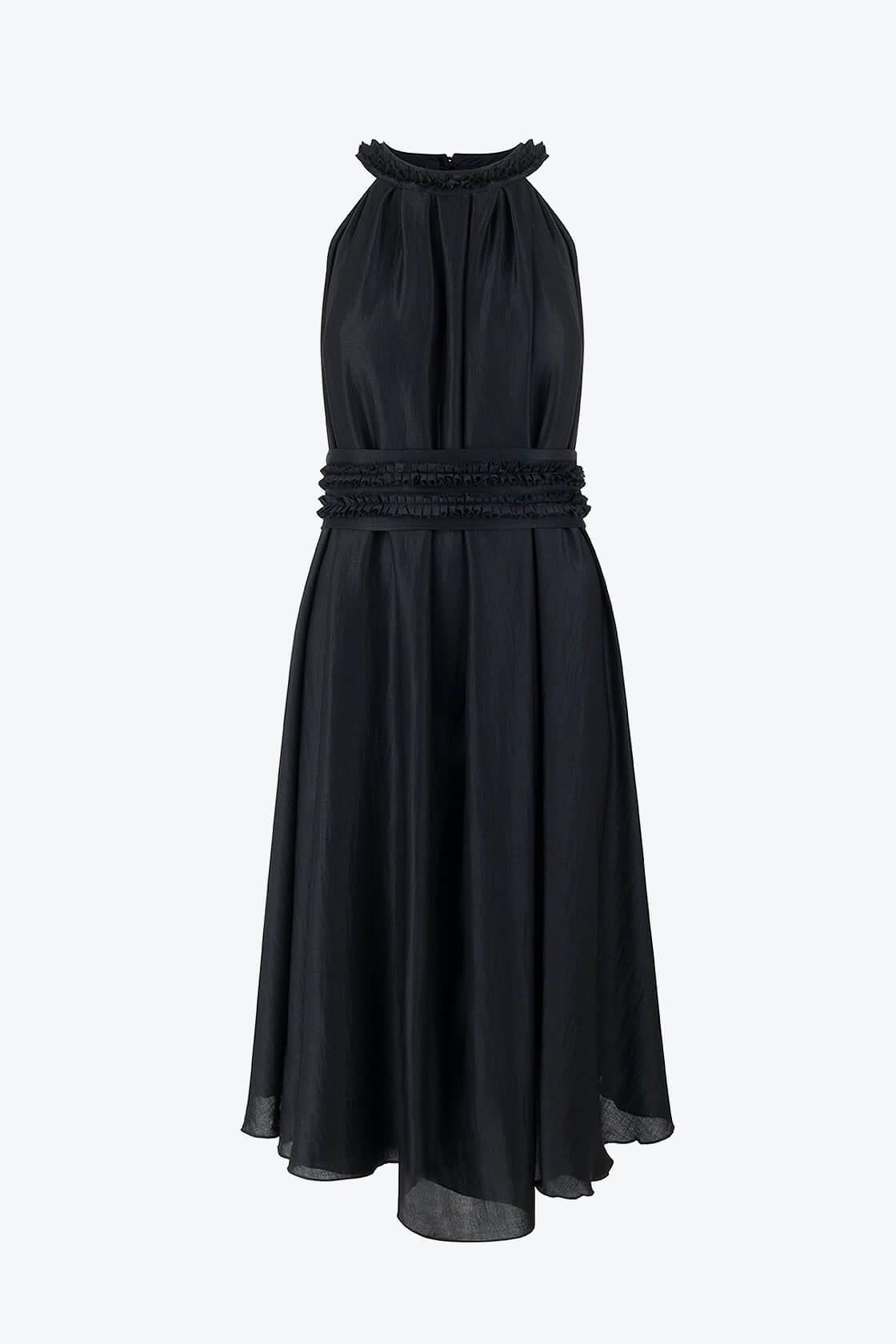 OL100002650 Olivera Sleeveless Cocktail Dress Black1